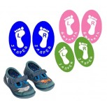 'Happy Feet' Shoe labels 20 pcs