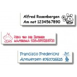 Poly/Cotton Iron-on Labels -M-