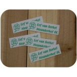 Poly/Cotton Iron-on Name Labels -L-