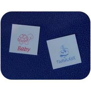 Polyester Sew In Labels White