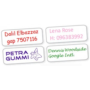 Small Name Labels Transparent