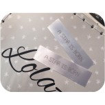 Satin Sew In Labels White