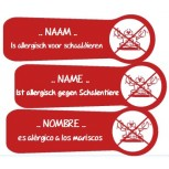 Allergy Name Labels Crustaceans