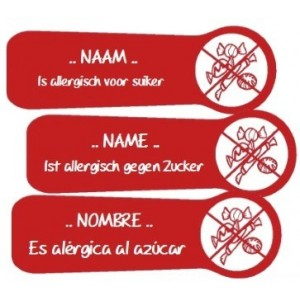 Allergy Name Labels Sugar