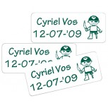 Small Vinyl Labels white 30 pcs