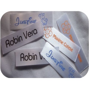 Satin Name Ribbons White