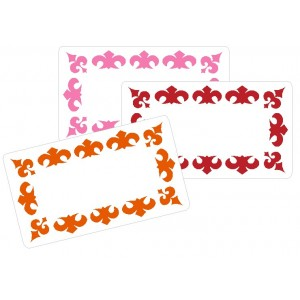 Large writable stickers Fleur-De-Lis