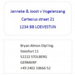 Weatherproof Address Labels