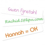 Mini Name Labels White 44 pcs