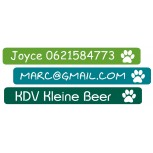 Mini Vinyl Labels Paw Uni