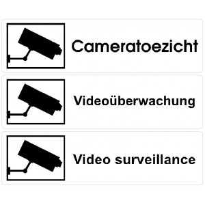 Camera surveillance Labels L.