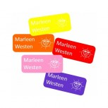 Small Name Labels Ton sur Ton 50 pcs. Note: Set of 5 Colors!