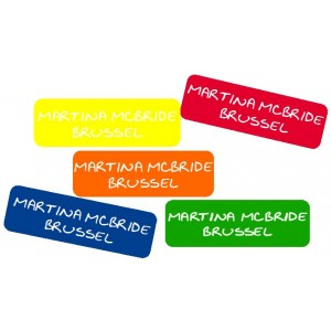 Large Name Labels Multi Color. 5 Color set!