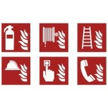 Fire safety icon labels