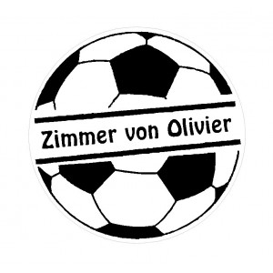 Door sticker 'Football'