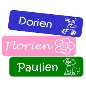 Flex Small Iron-on Name Labels Uni