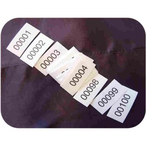 Iron-on labels - numbered
