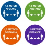 COVID-19 Distance Sticker - Round