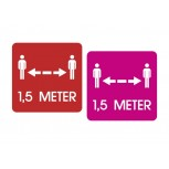 COVID-19 Distance Stickers - Square