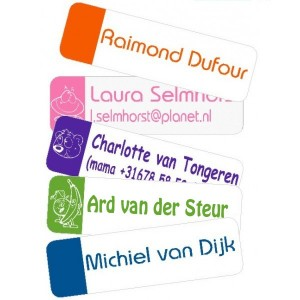 Trendy Flex Medium Iron-on Name Labels