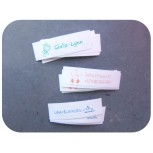 Vegan Cotton name ribbons