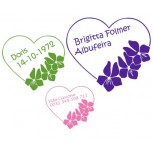 Flower Heart Labels 16 pcs