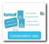 Combin label sets for a discount