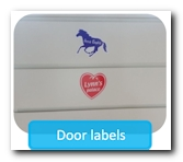 Removable doorstickers without residu
