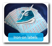 Label any textile with recognizable labels