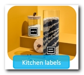 Label any household or kitchen equipment