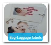 Bag tags and luggage labels on creditcard format