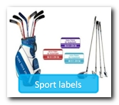 label sportsequipment to prevent loss