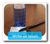 Waterproof labels to write on