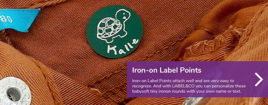 ironon labels
