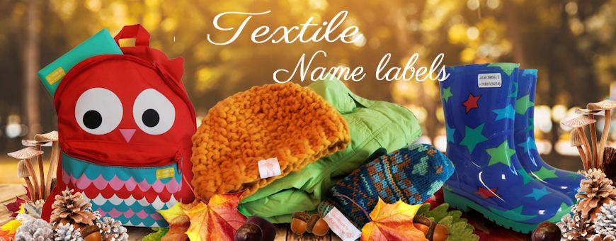 Textile namestickers and sewing namelabels for children